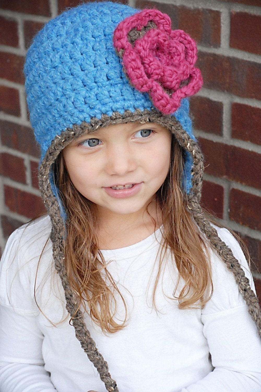 Bulky Crochet Earflap Hat Pattern Free : Chunky Earflap Hat Crochet Pattern Instant by adrienneengar