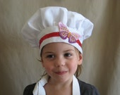 Child Toddler Butterfly Chef Hat (Ages 1 - 10)