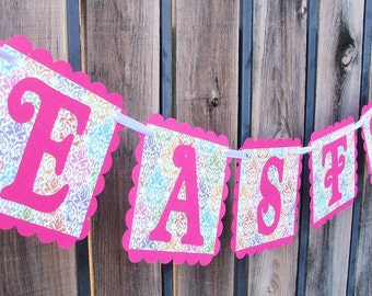 CLEARANCE - EASTER Banner - Easter Decoration - Garland - Holiday Sign - Ready to Ship