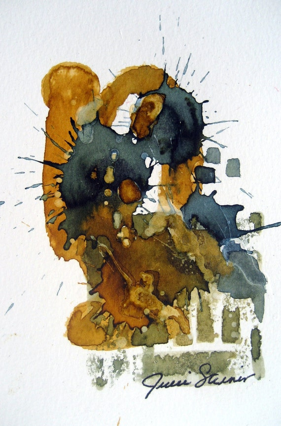 Contemporary Art Experimental Mixed Media Abstract by Julie Steiner Modern