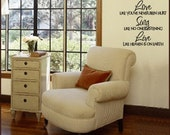 Wall Decal Dance Love Sing Live    EXTRA LARGE