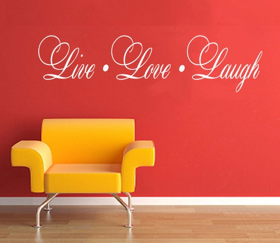 LIVE LOVE LAUGH  Large  Wall Decal