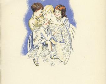 Peter Pan Vintage Print 1931, The Return Mrs Darling, Nursery Decor Art, Baby Shower Gift, Childrens Wall Art