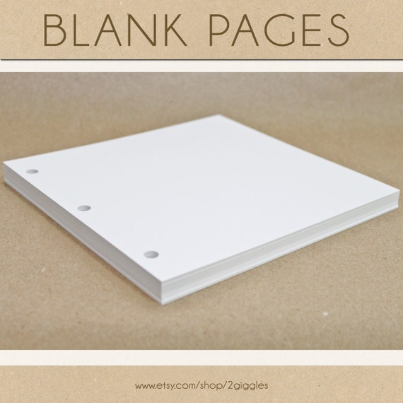 Blank Scrapbook Pages - Include in your Two Giggles Baby Album