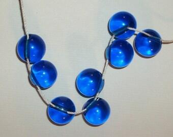 Sapphire Blue Translucent Retro Plastic Buttons Button Assemblage