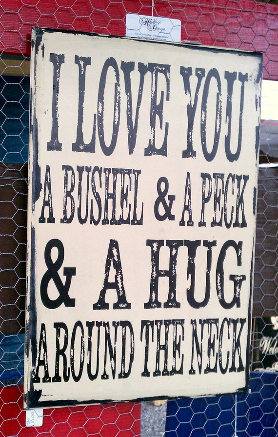 Love you a bushel and a peck by heritagedesignsth on etsy