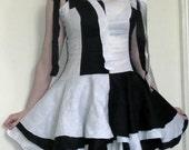 Black and White Harlequin Rag Dress