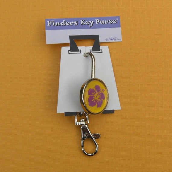 Key Holder that hooks on your purse - Hawaiian Hibiscus key chain