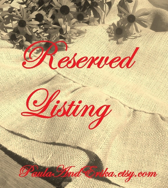 Reserved for Lorena