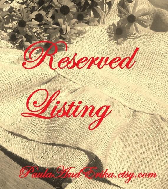 Reserved for Raegan