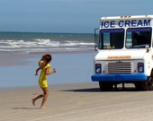 Ice Cream Truck on the Beach Fine Art Photo Print