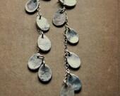 Silver Chandelier Teardrop Earrings / Fall Fashion Bridal Jewelry / Boho Jewelry