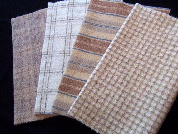 Textured Creamy Neutrals in Felted Wool / L53