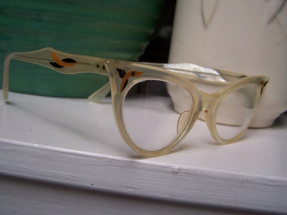 Reserved for Charlotte  Cat Eye Glasses Victory 1950 1960