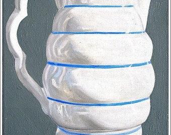 Art Print--Milk Jug--From Original Oil Painting, still life painting, kitchen art
