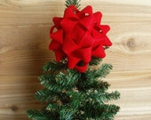 Felt Bow Christmas Tree Holiday Topper