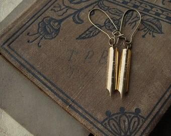 Victorian Pen Nib Earrings - Scribbles No. 019