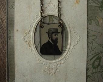 Jeremiah - Antique Gem Tintype Necklace