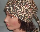 Do Rag Leopard Skin Print XL Size Head Wrap Biker Do Rag, Free Shipping