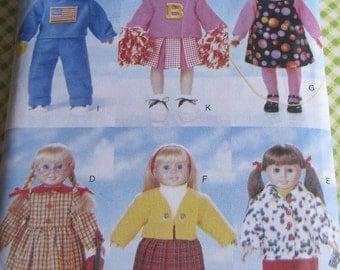 Butterick Sewing Pattern 5604 18 inch Doll Back to School Wardrobe