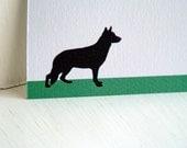 Merry Christmas German Shepherd Family Dog Card - German Shepherd - Christmas Card - Christmas Stationery - Family Stationery