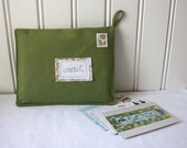 postcards from europe -mail organizer, green
