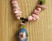 Cloisonne Floral Necklace
