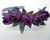 Very Purple Origami Headband