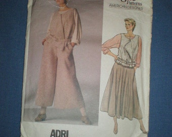 Vogue American Designer Adri,  Vest, Blouse, Skirt and Culottes with orginal design label