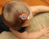 Rainbow Felt Flower Hair Clip- Perfect for School, Kids, Teens and Adults