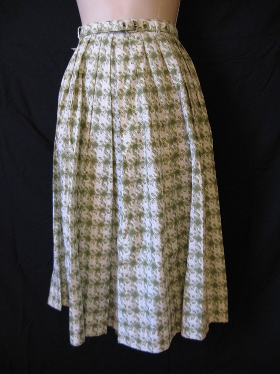 1950's green houndstooth culottes.  wide leg palazzo pants. small. new old stock.
