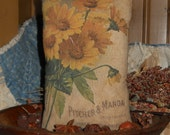 Primitive Accent pillow Flower Seed