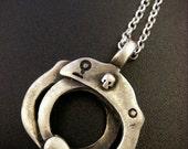 Sterling Silver Handcuffs Pendant