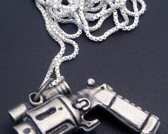 Sterling Silver Gun Pendant