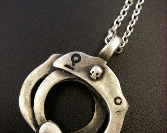Sterling Silver Handcuffs Pendant