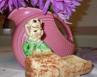 Sale Vintage 1950s  Woodland Anthropomorphic Pixie - Elf  Ceramic