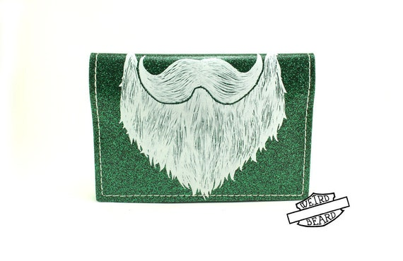 On Sale - Weird Beard Mini Wallet - Green Metal Flake - Get on your bikes and RIDE