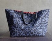 Blue leopard on Oxford cotton WIDE 150cm, U2762