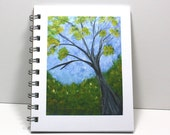 Impressionism Journal Diary Spiral Notebook Sketch Book - Spring Day - Original Art - Small Notebook 5.5 x 4.25 Inches