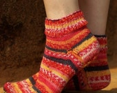 Adult Hand Knit Ankle Socks - Made to Order