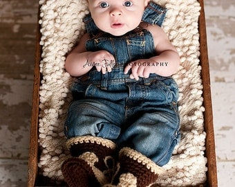 Baby Cowboy Outfit -  Baby Cowboy Boots - Baby Photo Prop - Baby Cowboy - Baby Cowboy Hat - Cowboy Boots - Newborn Photo Prop - Cowboy Hat