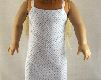 Blue Polka Dot Nightgown for American Girl