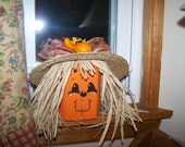 Wooden Harvest Pumpkin Bumpkins Shelf Sitter