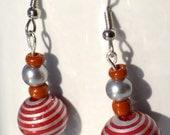 Red Swirl Dangle Earrings