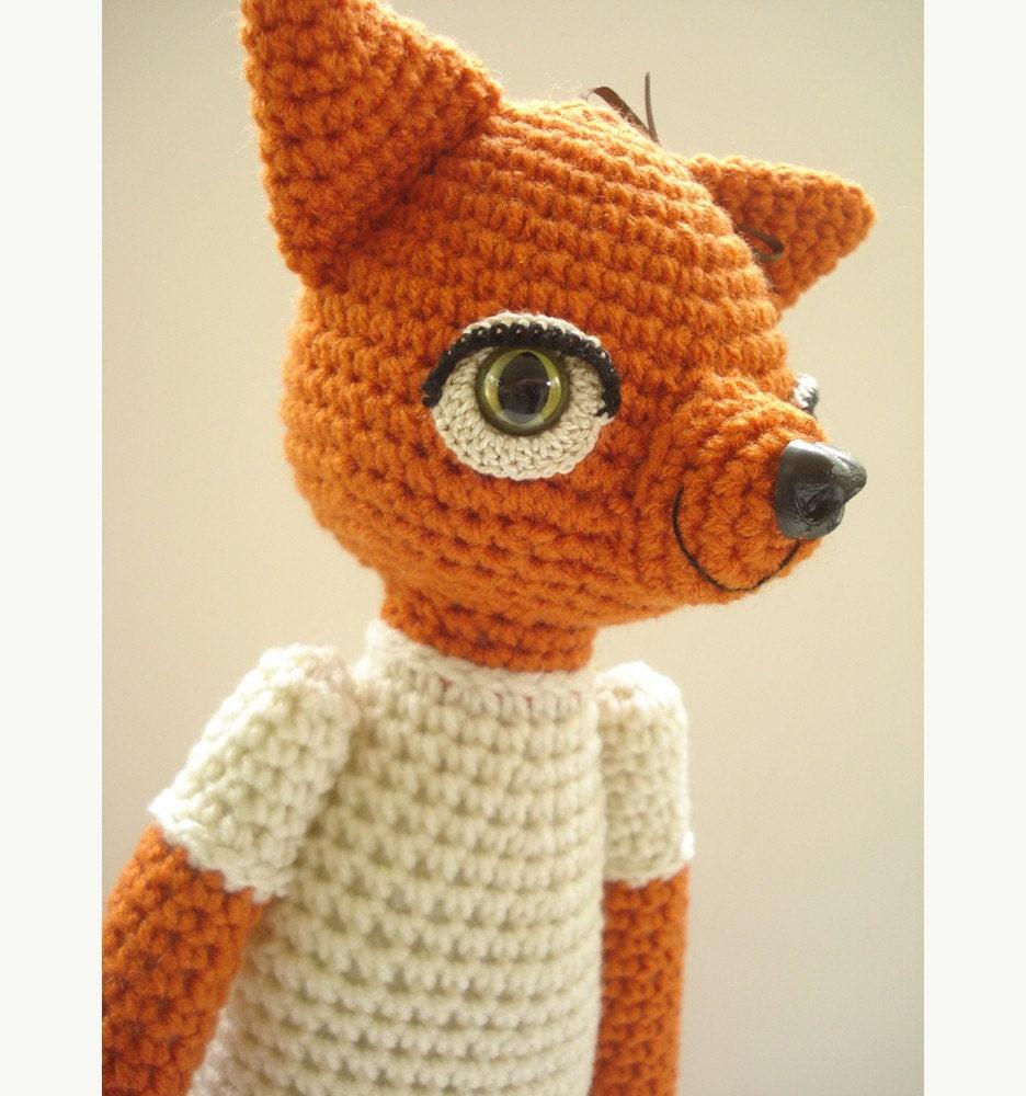 Fantastic Fox Girl Amigurumi Crochet Stuffed Animal Doll