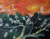 Spring Blossom - Original Abstract Oil Painting