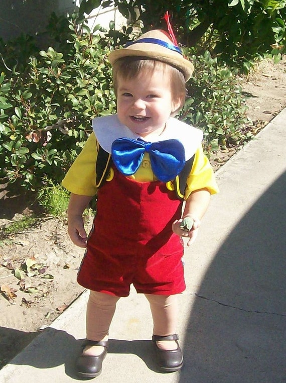 Pinocchio costume lederhosen child sizes 12 months to 4 years for Halloween costume ideas for 12 year olds
