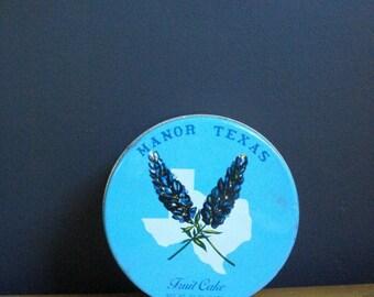 Not Everything's Bigger - Small Vintage Texas Fruit Cake Tin- Manor Texas