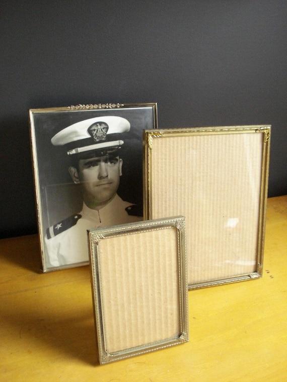 Brass Frame Trio - Set of Three Vintage Brass Picture Frames