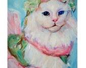 Custom Cat Painting: Original Painting, Custom Made Cat art, commission your own pet portrait